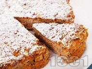 Пухкав сладък кекс с орехи и ябълки без захар (с подсладител)
